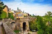 Luxemburg beautiful city view in summer