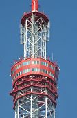KIEV, UKRAINE - JULY 30, 2014. TV tower of Central Television of Ukraine. July 30, 2014 Kiev, Ukrain