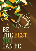 Abstract american football poster in color. Vector illustration.