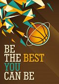 Abstract basketball poster in color. Vector illustration.