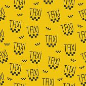 Seamless pattern of taxi sign.