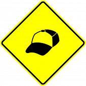 trucker cap sign