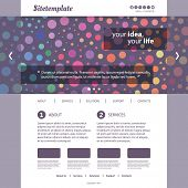 Website Template with Abstract Header Design - Colorful Dotted Pattern