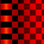 Abstract Red Black Squares Background Pattern