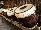 Thai ancient drums musical instrument