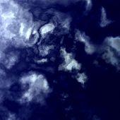 Dark Blue Sky - White Summer Clouds Background