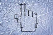 Old School Design Of Pixelated Cursor