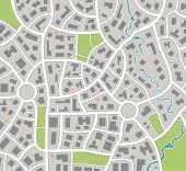 Постер, плакат: Карта города