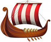 pic of viking ship  - Illustration of a viking - JPG