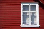 typcial scandinavian red wooden house