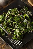 stock photo of sauteed  - Homemade Healthy Sauteed Swiss Chard with Garlic and Cheese