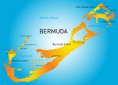 Vector map of Bermuda region