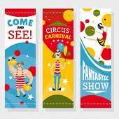 Circus banners vector illustration