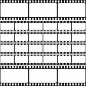 Film strips seamless pattern, retro background, vector