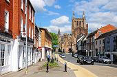 King Street and Cathedral, Hereford.