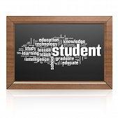 Blank Blackboard Student