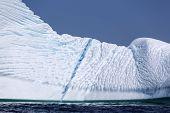 blue streak in St. Anthony iceberg