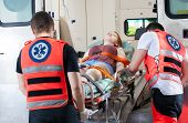 Woman In Ambulance