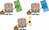 Businessman Dude Cartoon Character 11  Collection Set