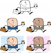 Businessman Dude Cartoon Character 1  Collection Set