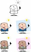 Businessman Dude Cartoon Character 5  Collection Set