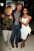 LOS ANGELES - AUG 21:  Amy Madigan, Ed Harris, Eva Longoria at the