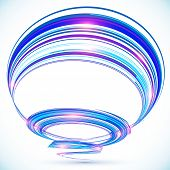 Blue abstract futuristic spiral vector background