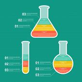 Set Flat Modern Infographic On Science And Medicine. Design Elements.