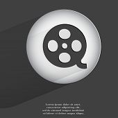 film. Flat modern web button with long shadow and space for your text
