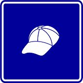 baseball cap sign