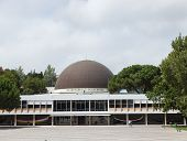 The building of planetarium of Galust Gulbekyan in Lisbon, Portugal