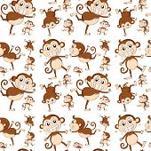 Illustration of seamless monkey