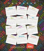 Vector illustration - Calendar 2015