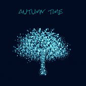 Abstract light tree, easy editable