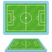 Vector Set Of Football Soccer Fields Isolated