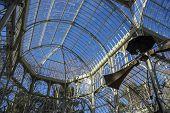 Travel, Crystal Palace in the Retiro park Madrid, Spain
