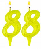 Birthday Candles Number Eighty Eight