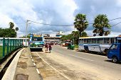 the bus station in Galle, Sri Lanka
