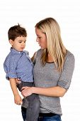 stock photo of soliciting  - mother and son symbol of love - JPG