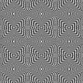 Design Seamless Monochrome Motion Illusion Checkered Background