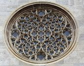 VIENNA, AUSTRIA - OCTOBER 10:  Rose window on St. Stephens Cathedral in Vienna, Austria on October 10, 2014.