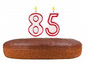 Birthday Cake Candles Number 85 Isolated