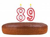 Birthday Cake Candles Number 89 Isolated