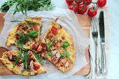 Eggs omelet for breakfast