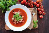 Tomato soup with macaroni