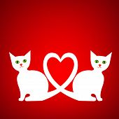 Valentine card with kittens