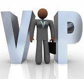 Vip - Businesswoman In Word