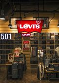 BANGKOK, THAILAND - DECEMBER 25, 2014: Levi Strauss store in the shopping center