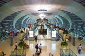 BANGKOK, THAILAND - NOV 11: Suvarnabhumi Airport interior on November 11, 2014. Suvarnabhumi Airport is one of two international airports serving Bangkok