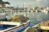 Dramatic Scene of Fishing Boats in HDR